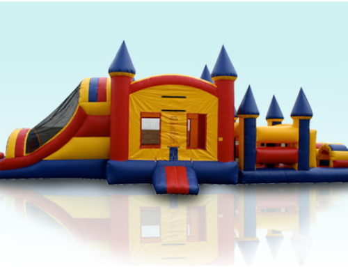 Castle Obstacle Course Single large slide